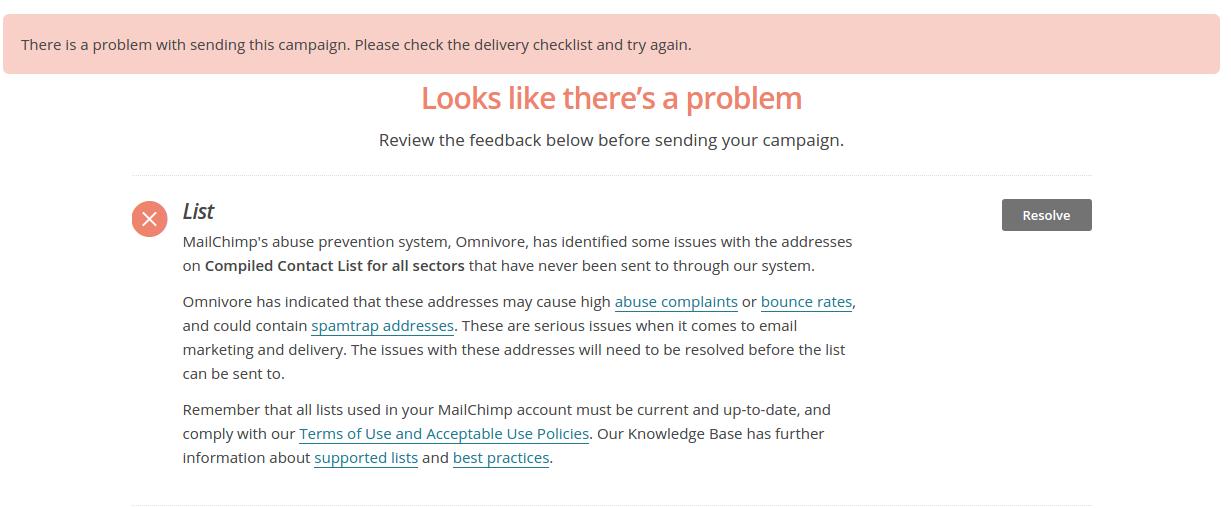 mailchimp Omnivore